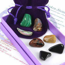 Crystal Chakra Healing Stones Gift Set Box of 7 Tumbled Reiki Large Gemstones
