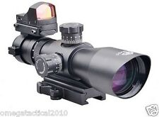 Trinity Force Tactical Range Finder 3-9X42 Scope & Micro Red Dot Sight QR Mount