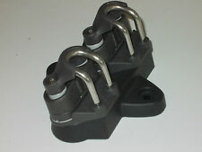 LASER DINGHY SPARES - Replica double cleat base plate with cleats - FREE POST