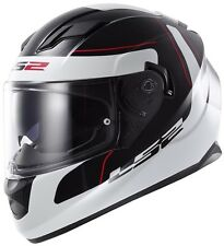 LS2 Helmets-FF320- Stream-Lunar Black White - Dual Visor Without Air Pump Helmet