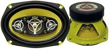 "Pyle PLG69.8 Speaker 6X9"" 8-Way Gear 500Watts; Yellow Basket/Cone"