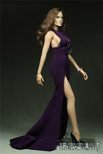 "1:6 Female Figure Clothes Side Slits Tail Dress Gown F12"" Phicen Big Bust Figure"