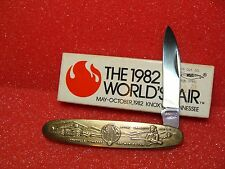 PARKER CUT CO.--EAGLE BRAND--JAPAN--1982--SINGLE BLADE--WORLDS FAIR--BRASS