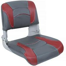 Clam Shell Fishing Seats Charcoal and Red