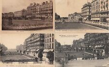 lot 4 cartes postales anciennes RENNES jardins sur la vilaine