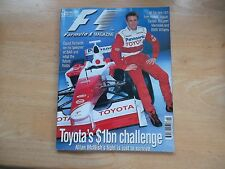F1 RACING MAGAZINE FEB  2002 TOYOTA'S CHALLENGE DAVID RICHARDS BAR ALL NEW CARS