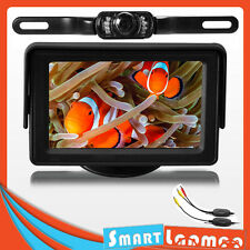 "Wireless Car IR Reversing LED Camera 4.3"" TFT LCD Monitor Rear View Kit Reverse"