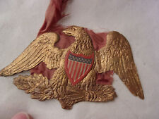 Antique DRESDEN Gold EAGLE Christmas ORNAMENT, Very Old, **RARE**, Double Sided