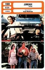 CARTE FICHE CINEMA 1988 JUMEAUX Schwarzenegger DeVito Preston Reitman
