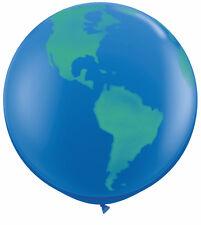 Gigante 3ft Qualatex Planeta Tierra Globo Globo Azul Oscuro Decoración para Original x1