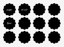 "Blackboard self adhesive sticker, set of 12, 2"" x 2"""