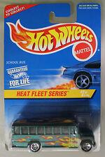 Hot Wheels 1:64 Scale 1996 Heat Fleet Series SCHOOL BUS (5 SPOKES)