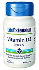 Vitamin D3 5,000 IU - Life Extension - 60 Softgels