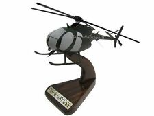 OH-6 Loach Cayuse Light Observation Helicopter Mahogany Wood Wooden Model New