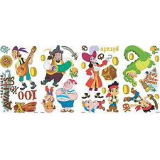 JAKE AND THE NEVER LAND PIRATES  wall stickups 32 decals treasure Captain Hook
