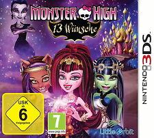 *Monster High: 13 Wünsche*Nintendo 3DS*deutsche Version*Neu&OVP*