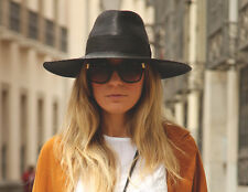 ZARA BNWT BLACK WIDE BRIMMED HAT WITH RIBBON 2013 COLLECTION Ref. 3920/004