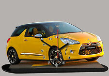 CITROEN DS3 JAUNE, citroen-ds3-02 en horloge