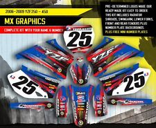 2006 2007 2008 2009 YAMAHA YZ 250F YZ 450F GRAPHICS KIT MOTOCROSS DIRT DECALS