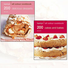 Sara Lewis Collection 200 Cakes & Bakes,Delicious Dessert 2 Books Set Pack NEW