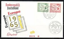 Germany 1965 FDC cover Europa CEPT Issue Mi 483-484 Sc 897-898 Stamps on cover