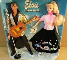 Barbie Loves Elvis Barbie & Ken Dolls Gift Set Elvis Presley Live On Stage NEW