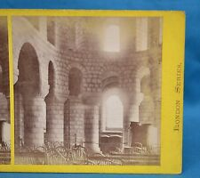 Scarce 1860s Stereoview Photo The Tower Of London 2 Norman Chapel J Davis Burton