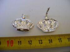 Silberfarbende Krone  mit Splintbefestigungen für Orden-Pickelhaube-Abzeichen