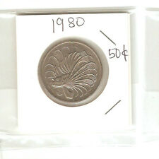 Offer Singapore 50 cents 1980  Fish coin  lustre/high grade! ??