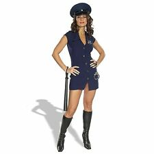 Sexy Police Girl Woman Cop Officer Uniform Halloween Adult Fancy Dress Costume