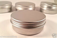 2 OZ. BLANK EMPTY SCREW TOP RUST PROOF METAL TIN CONTAINER CRAFT (16 pcs/count)