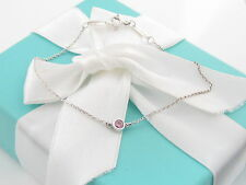 Rare Tiffany & Co Silver Peretti Pink By The Yard Bracelet Box Included