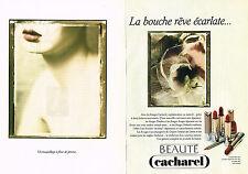 PUBLICITE ADVERTISING 094  1991  CACHAREL  rouge à lèvres par SARAH MOON ( 2 p)