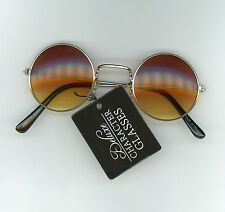 Steampunk Deluxe Character Glasses Rock Star One Size Wire Rims Gold Yellow Lens
