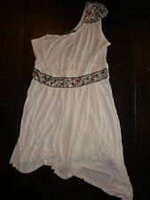 New NWT South one shoulder cream, white dress. Size 16