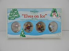Dept 56 North Pole Series Elves on Ice #52298 D56 NP Very Good Condition
