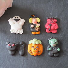 6  HALLOWEEN SCARY,SPOOKY ICED TOPPERS, CUPCAKE DECORATIONS