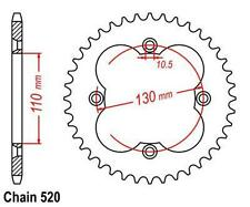 KR Kettenrad 38 Z Teilung 520 HONDA TRX 250 R Fourtrax 88-92 ... Rear sprocket