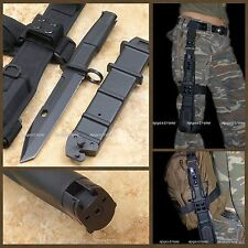 Bayonet With Military Holster Tactical Survival Combat Fighting Knife