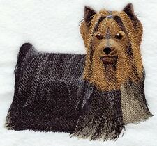 Large Embroidered Zippered Tote - Yorkshire Terrier Yorkie I1228