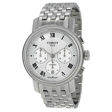 Tissot Bridgeport Automatic Chronograph Silver Dial Stainless Steel Mens Watch