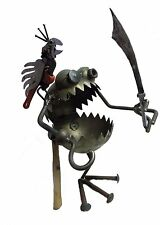 Sugarpost Giant One Legged Pirate with Sword, Parrot & Hook Welded Metal Art