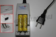 2 PILES ACCUS RECHARGEABLE 18650 3.7V 5000mAh + CHARGEUR TR-001 TRUSTFIRE