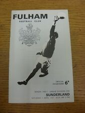 01/04/1967 Fulham v Sunderland  . Item appears to be in good condition unless pr