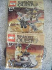 LEGO PHARAOH'S QUEST 30091 30090 ROVER PLANE Lot x 2 New party polybags