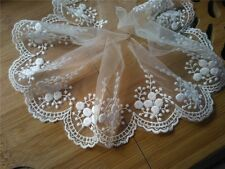 "3Yards*4"" white vintage lace trim -ivory embroidered wedding lace ribbon"
