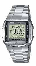 CASIO Men's Quartz Watch with LCD Dial Digital Display and Silver Stainless Stee