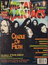Metal Maniacs March 2001  Cradle of Filth, Alice Cooper, UFO VG 070816DBE