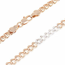 White Rose Gold Filled Statement Chain Short Choker Necklace Fit Necklaces