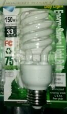 CFL Daylight Light Bulb 33 W 150  Watt White Compact Fluorescent Spiral Base New